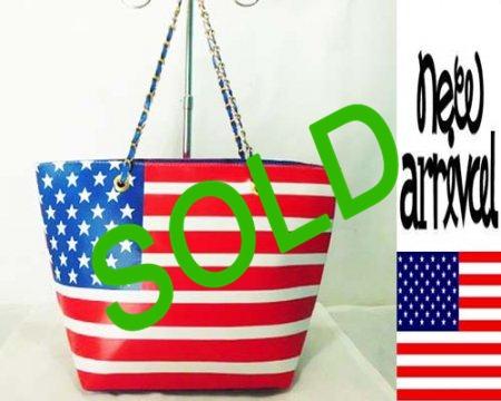 Tas Fashion Rantai Biru Bendera Amerika