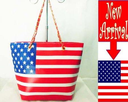 Tas Fashion Rantai Merah Bendera Amerika