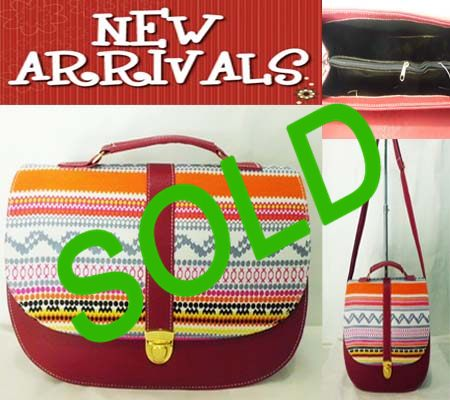 TAS FASHION SLEMPANG TRIBAL-MERAH MAROON