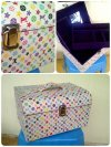 SALE 50%. Beauty case lv monogram multicolor white