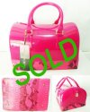 BIG SALE-TAS FURLA SNAKE PINK-SEMI ORIGINAL